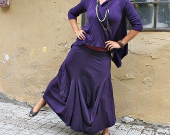 Deep Purple TWIST Skirt - FREE Shipping