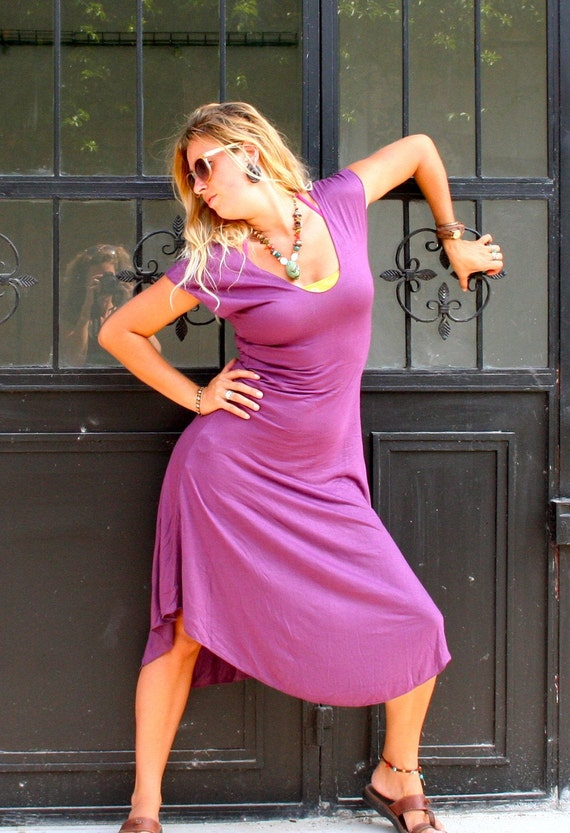Purple AWARENESS Dress ( Short Sleeves )