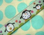 "LAST PIECE 5 yds 20"" Janea's Penguin Family ribbon"