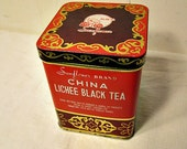 Vintage Chinese Tea Tin from the People's Republic