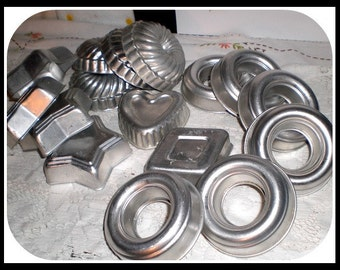 Cookies - Jello Molds Aluminum 16 Assorted shapes.