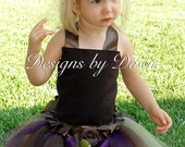 Custom made Fall dress. Brown, Plum and Green. Corset top, floor length skirt and hairpiece. Size 12m-5T..custom sizes and colors available