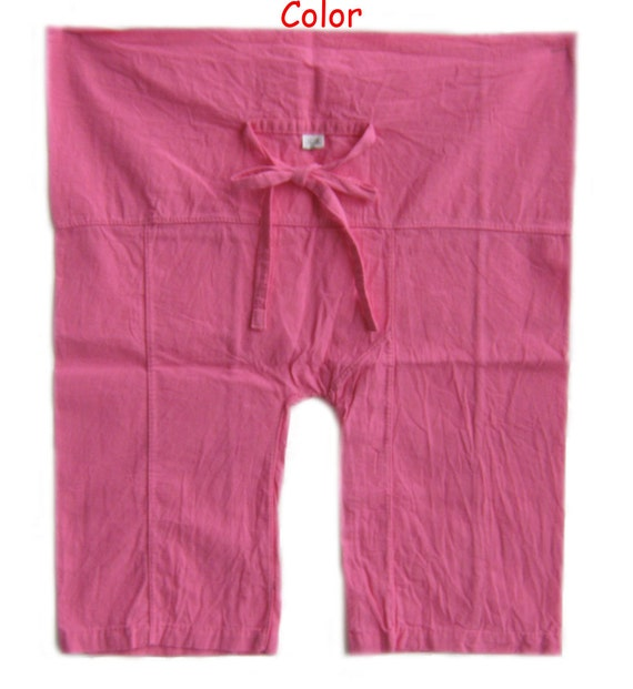 "2 Pieces Children Fisherman Pants Yoga Black and Pink For Kid's Ages 1-4 10% Coupon Code ""SiamHandMade"" Valentine's Day"