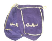 2 Crown Royal Bags for crafting