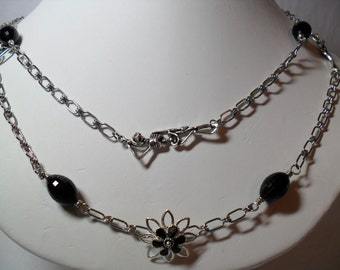 Long Continuous Strand Chain, Trendy with a Different Twist   OOAK(2012)