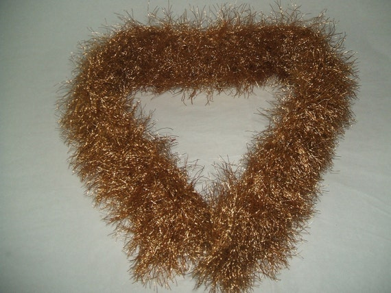 Eyelash Yarn : CROCHET GOLD EYELASH YARN COLLAR by RachelleCreations on Etsy