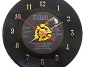 """Dolly Parton """"Here you come Again"""" 45 Record Clock Recycled Vinyl Music Collectible"""