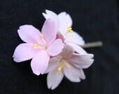 Trio of Sakura Cherry Blossoms Hairpin