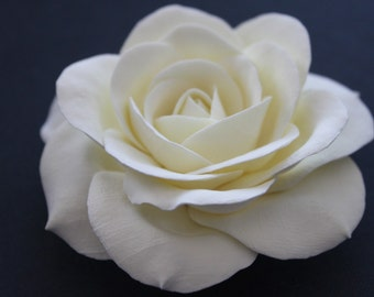 Ivory rose hair pin 3 inches
