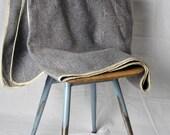 Vintage Blue Gray Wool Camping Blanket