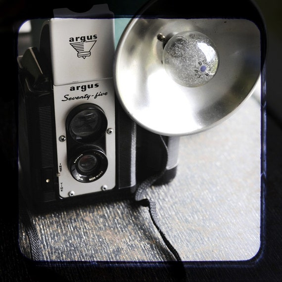 Vintage Argus Seventy Five Camera with Flash and Leather Case