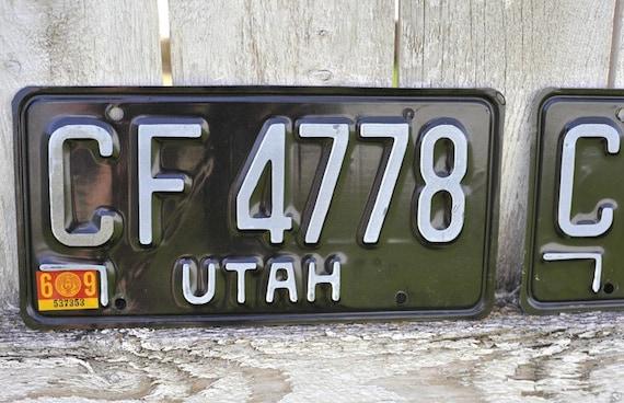 vintage 1969 utah license plates