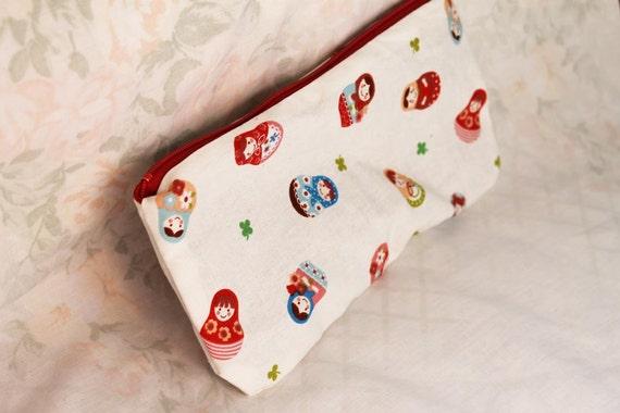 Matryoshka Russian dolls Make up Cosmetic Bag Pencil Pouch