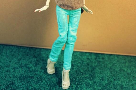 Monster High Light Blue/Teal Corduroy Pants