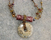 Double-strand Jasper bead necklace for Alison