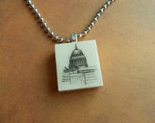 Scrabble Pendant of St. Paul's Cathedral, London
