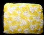 Yellow Flower Coin Pouch