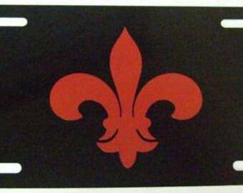 Any Color Fleur De Lis License Plate