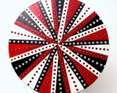 Mazzchop Designs hand painted TriColor Fun Pattern step stool