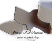 50 Paper Leaf - Leaves Natural Ivory, Wedding Place Cards- Escort Cards - Wedding wish tree