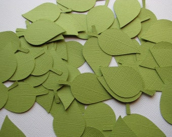 50 Apple Leaves- Parakeet Green -  Mini Wedding Decorations