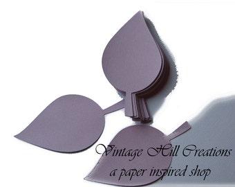 200 Paper Leaf -Leaves- Pale Purple Wedding - Place Card, Escort Card, Die Cut Tags