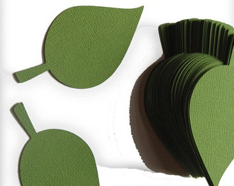 50 -4 inch- Paper Leaf -apple Leaves- Hillary Green - Wedding Place Cards, Escort Cards, Leaf Die Cut