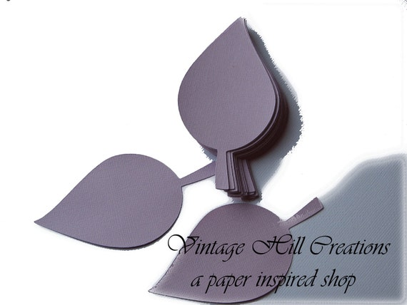 200 Paper Leaf- Apple Leaves- 4 inch- Pale Purple Wedding - Place Card, Escort Card, Die Cut Tags