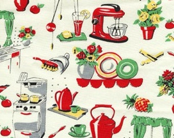 Michael Miller Retro Fifties Kitchen fabric- yards