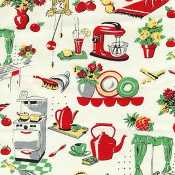 Michael Miller Retro Fifties Kitchen Fabric Yards