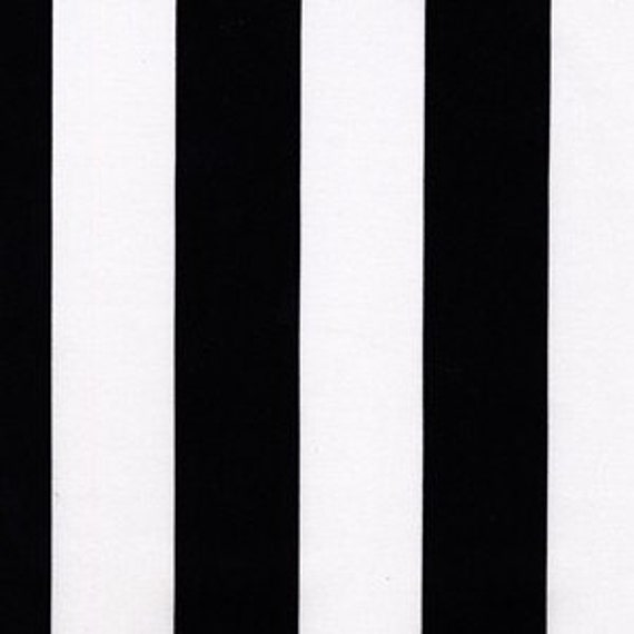 Michael Miller Black and White Fabric, TWO BY TWO Stripe, 2 yards