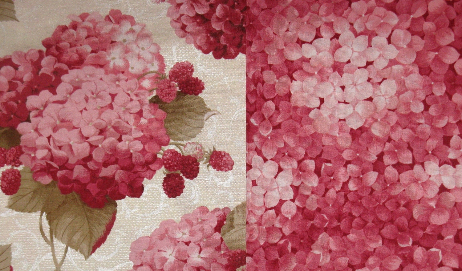 Lakehouse Powder Pink Hydrangea And Raspberry And Rouge