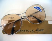 40% OFF SALE Rare Old School Style Rodenstock 80's Metal Sunglasses