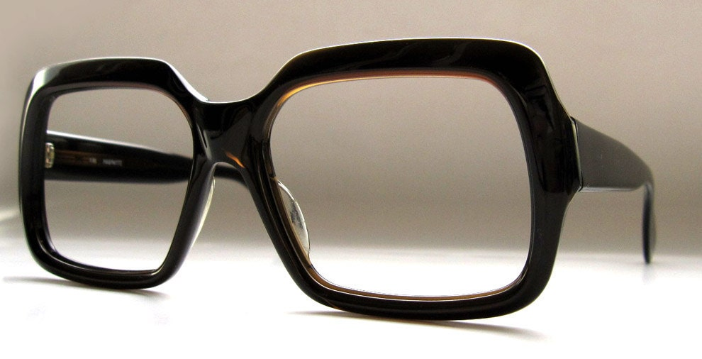Eyeglass Frames Square : 80s Vintage German Square Frame Eyeglasses