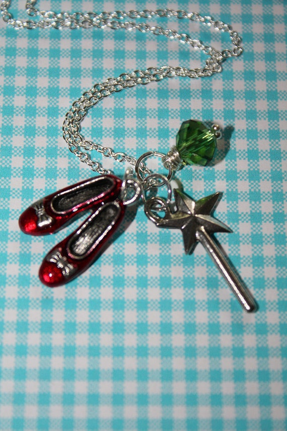 The Ruby Slippers Necklace - From The Wizard Of Oz