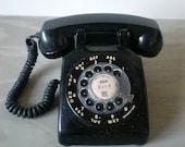 Black Rotary Phone Old Fashioned Telephone