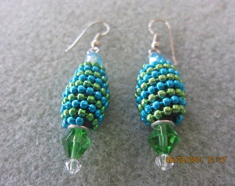 Earrings Tourquoise and Green