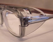 ULTIMATE GEEKISH SAFETY GLASSES 1950S GREY TRANSLUCENT
