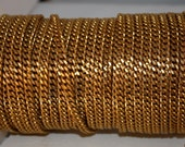 3 feet Bright Brass Faceted curb chain unsoldered links 8mm x 5mm
