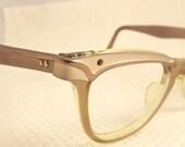 SALE Rare and Stunning   American Optical Cat Eye  EYEGLASSES 1950s 12 k Goldfilled