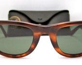 On Sale,RAY BAN Wayfarer  Tortoiseshell Vintage Bausch and Lomb  Sunglasses USA with case