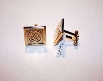 Cuff Links and Tie Bar // Lucky Gold Horseshoe // Vintage Cuff Links and Tie Bar // 1970s