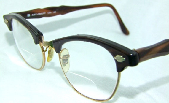 TORTOISHELL ART CRAFT EYEGLASSES 1950S