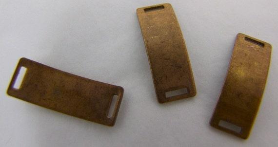 12 x  I D Bars Vintage  Raw Brass  Major Patina Original old stock