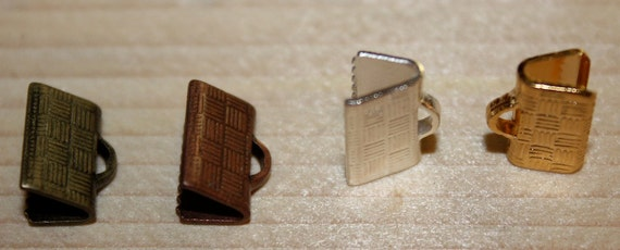 Crimps in assorted metals for flat chain ends 10mm x 6mm (2 crimps)