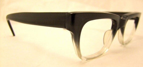 Mint 1950s Two Tone Geekish Eyeglasses Most excellent Unisex Hadley Brand USA