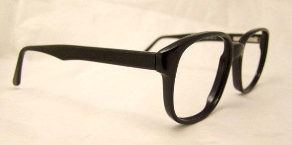 Geekish Black Eyeglasses 1960s 70s Its a Wonderful Life