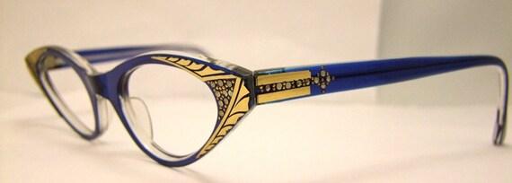 Rare 1950S  New old stock Cateye  Eyeglass frames cats eye glasses,France