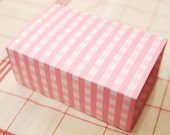 Pink Gingham Multi Functions Arched DIY BOX 14.6x9, set of 4, U1055