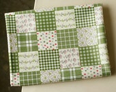 A Yard of Floral Green Patch cotton, U1279